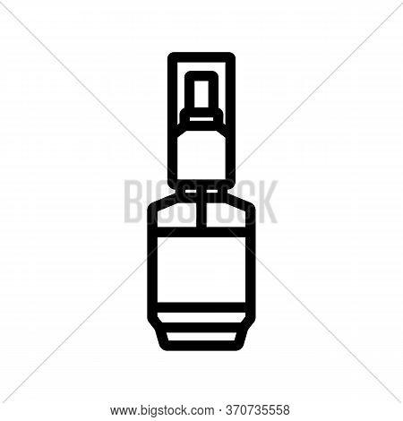 Perfume Serum Spray Bottle Icon Vector. Perfume Serum Spray Bottle Sign. Isolated Contour Symbol Ill