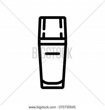 Serum Creamy Liquid Bottle Icon Vector. Serum Creamy Liquid Bottle Sign. Isolated Contour Symbol Ill