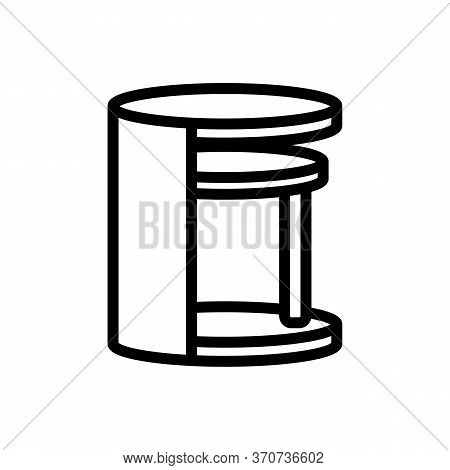 Nightstand Elegant Furniture Icon Vector. Nightstand Elegant Furniture Sign. Isolated Contour Symbol