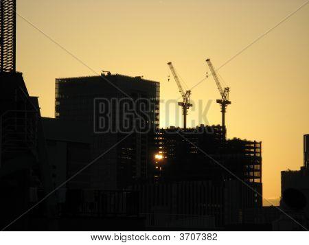 Skyscrapper Construction Cranes