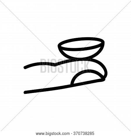 Contact Lens On Hand Finger Icon Vector. Contact Lens On Hand Finger Sign. Isolated Contour Symbol I