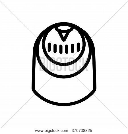 Compass For Sailboat Icon Vector. Compass For Sailboat Sign. Isolated Contour Symbol Illustration