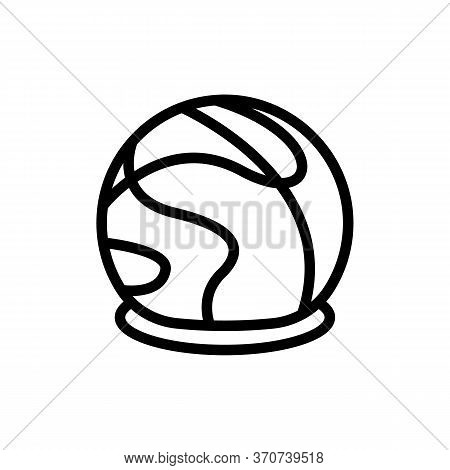 Chocolate In Sphere Form Icon Vector. Chocolate In Sphere Form Sign. Isolated Contour Symbol Illustr