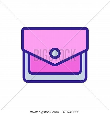 Wallet Billfold Accessory Icon Vector. Wallet Billfold Accessory Sign. Isolated Color Symbol Illustr