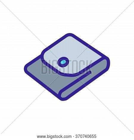 Wallet Cash Storage Accessory Icon Vector. Wallet Cash Storage Accessory Sign. Isolated Color Symbol