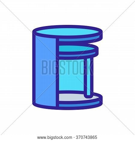 Nightstand Elegant Furniture Icon Vector. Nightstand Elegant Furniture Sign. Isolated Color Symbol I