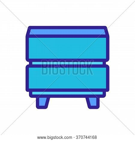 Nightstand Home Furniture Icon Vector. Nightstand Home Furniture Sign. Isolated Color Symbol Illustr