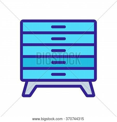 Nightstand Bedroom Furniture Icon Vector. Nightstand Bedroom Furniture Sign. Isolated Color Symbol I
