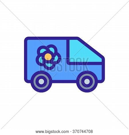 Flower Shop Delivering Truck Icon Vector. Flower Shop Delivering Truck Sign. Isolated Color Symbol I