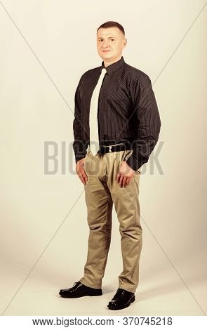 Boss Director Head Of Department. Man Regular Caucasian Appearance Wear Formal Clothes. Male Fashion