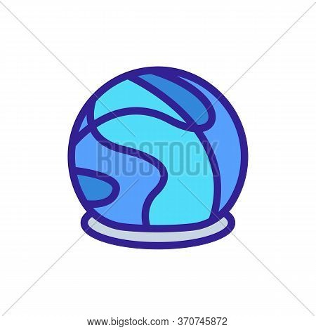 Chocolate In Sphere Form Icon Vector. Chocolate In Sphere Form Sign. Isolated Color Symbol Illustrat