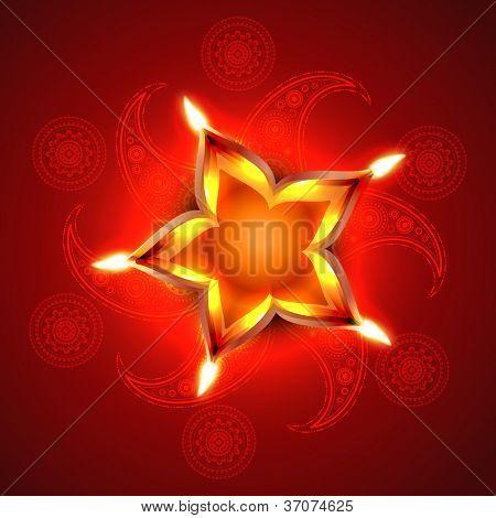 stylish artistic happy diwali vector background design poster