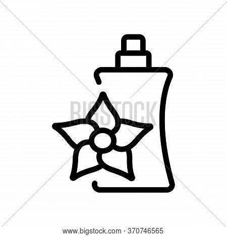 Vanilla Perfume Icon Vector. Vanilla Perfume Sign. Isolated Contour Symbol Illustration