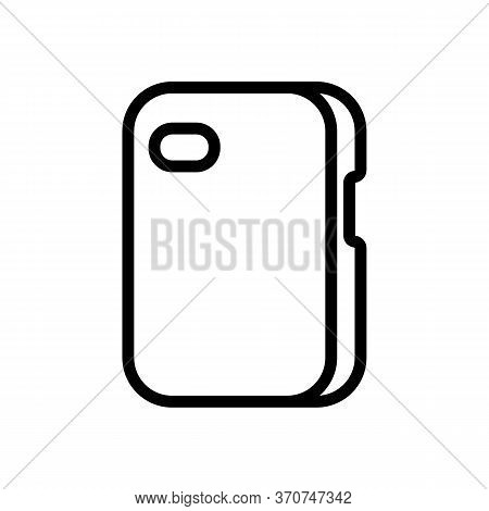 Smartphone Case Protection Icon Vector. Smartphone Case Protection Sign. Isolated Contour Symbol Ill