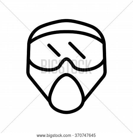Paintball Helmet For Extreme Sport Icon Vector. Paintball Helmet For Extreme Sport Sign. Isolated Co