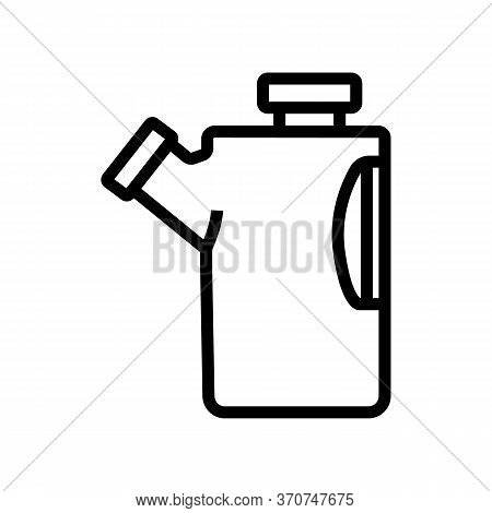 Paintball Canister With Bullets Icon Vector. Paintball Canister With Bullets Sign. Isolated Contour