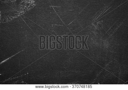Blackboard Texture. Empty Place For Text Or Design On Black Chalkboard. School Board Background With