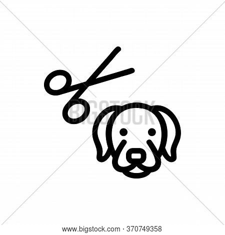 Dog Grooming Icon Vector. Dog Grooming Sign. Isolated Contour Symbol Illustration