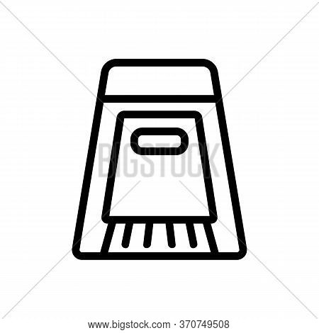 Dustpan And Brush For Purity Room Icon Vector. Dustpan And Brush For Purity Room Sign. Isolated Cont