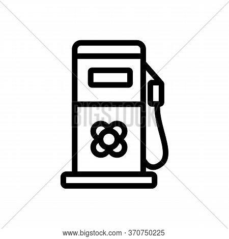 Canola Fuel Station Equipment Icon Vector. Canola Fuel Station Equipment Sign. Isolated Contour Symb