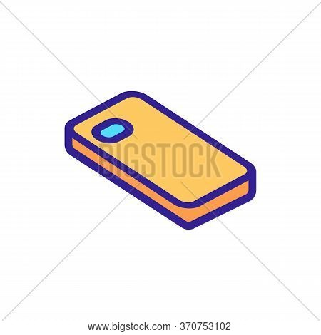 Phone Case Accessory Icon Vector. Phone Case Accessory Sign. Isolated Color Symbol Illustration