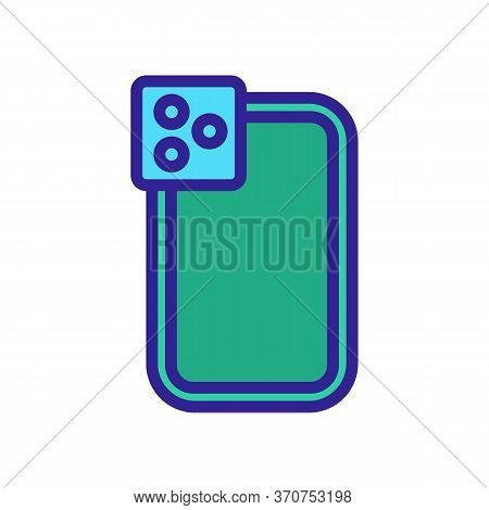 Silicon Phone Case Icon Vector. Silicon Phone Case Sign. Isolated Color Symbol Illustration
