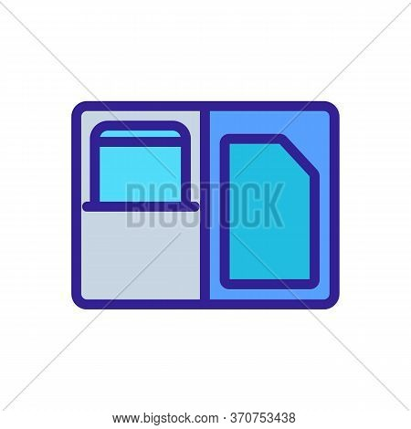 Phone Case Wallet Icon Vector. Phone Case Wallet Sign. Isolated Color Symbol Illustration