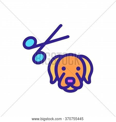 Dog Grooming Icon Vector. Dog Grooming Sign. Isolated Color Symbol Illustration