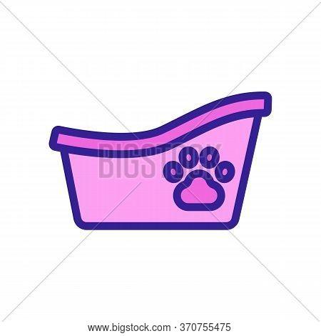 Bathtub For Animal Icon Vector. Bathtub For Animal Sign. Isolated Color Symbol Illustration