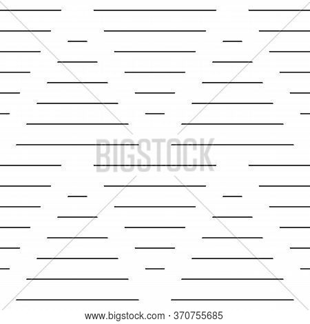 Strokes And Blocks Wallpaper. Black Narrow Lines On White Background. Seamless Surface Pattern Desig