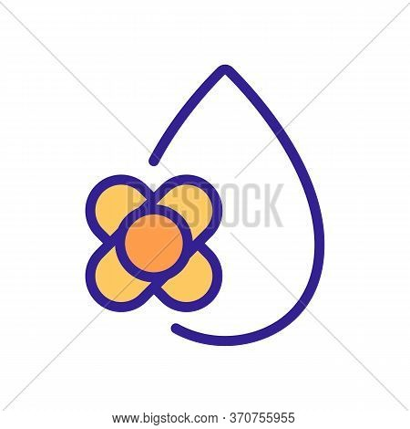 Canola Oil Drop Icon Vector. Canola Oil Drop Sign. Isolated Color Symbol Illustration
