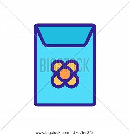 Canola Seeds In Paper Package Icon Vector. Canola Seeds In Paper Package Sign. Isolated Color Symbol