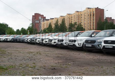 Saint Petersburg, Russia - June 06, 2020: Hyundai Creta And Nissan Qashqai Carsharing Company Youdri