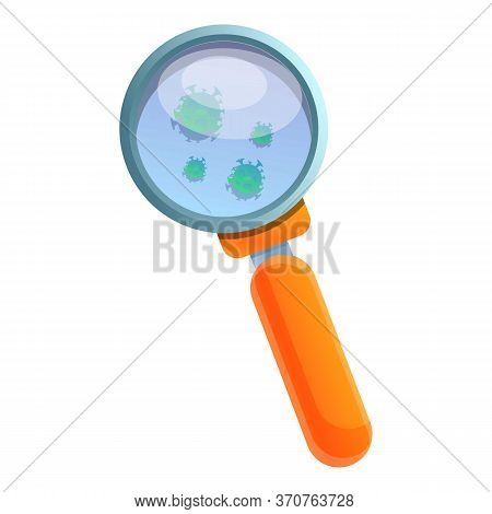 Biohazard Magnifier Icon. Cartoon Of Biohazard Magnifier Vector Icon For Web Design Isolated On Whit