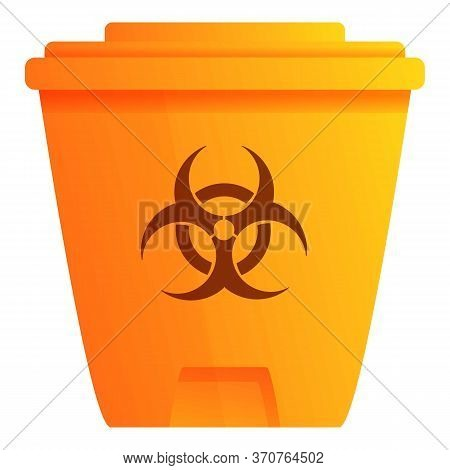 Biohazard Garbage Bin Icon. Cartoon Of Biohazard Garbage Bin Vector Icon For Web Design Isolated On
