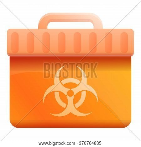 Biohazard Box Icon. Cartoon Of Biohazard Box Vector Icon For Web Design Isolated On White Background