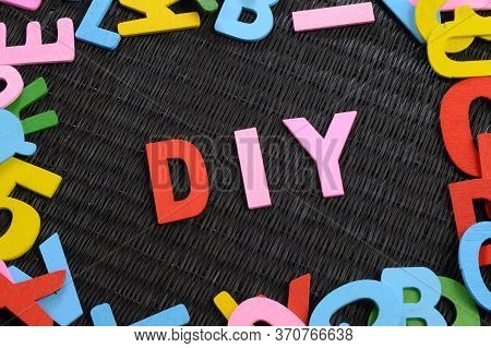 A Closeup View Of The Acronym Diy For Asserting The Many Do It Yourself Projects.