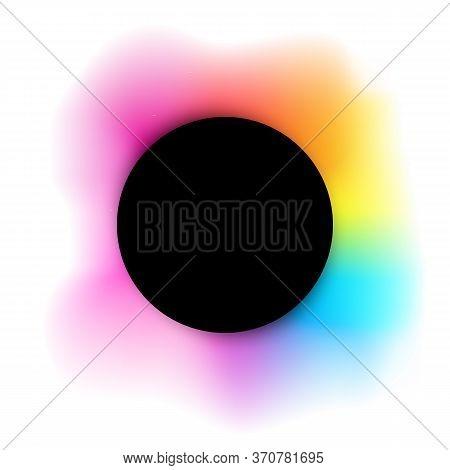 Vector Illustration Of Balsck Frame On Rainbow Artistic Background