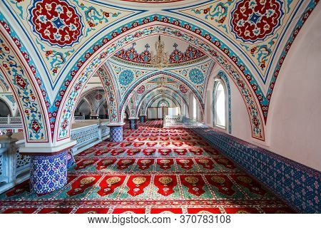 Manavgat, Turkey - November 08, 2019: Merkez Kulliye Cami Or Manavgat Central Mosque Is The Largest