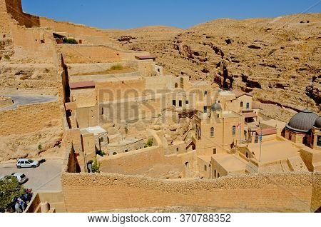 Holy Lavra Monastery Of Saint Sava The Sanctified Mar Saba In The Kidron Valley In The Judean Desert