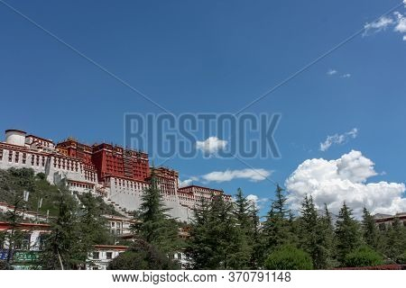 Potala Palace View From Side In Lhasa, Tibet, Asia