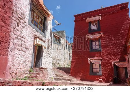 Drepung Monastery Just 8 Km Away From Lhasa, Tibet, Asia, White And Red Buildings, No People