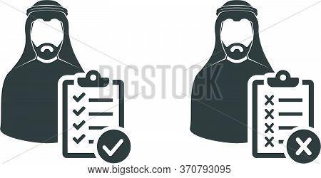 Arab Men Investigation Icon , Saudi Man Ksa, Uae