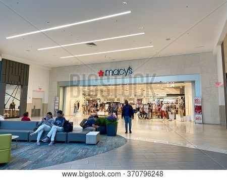 Orlando, Fl/usa-2/17/20: The Macy's Storefront At The Florida Mall In Orlando, Florida.