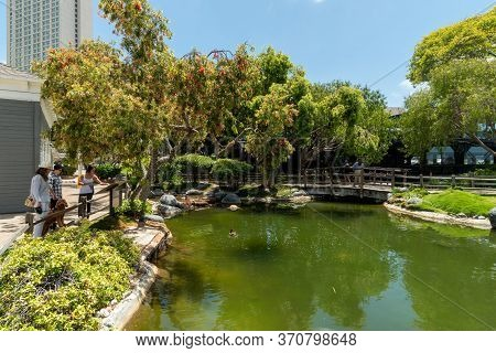 Little Green Lush And Water Pound At The Seaport Village, Waterfront Shopping And Dining Complex In