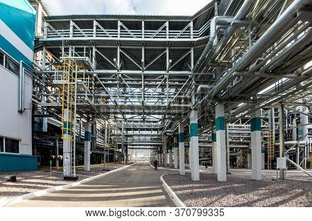 Chemical Polymer Factory. Production Line Of Thermoplastic