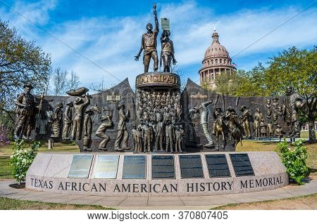 Austin, Tx, Usa - March 9, 2019: The Texas African American History Memorial
