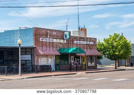 Lubbock, Tx, Usa - April 28, 2019: A Well Known City For Its Birthplace Of Rock 'n' Roll Legend Budd