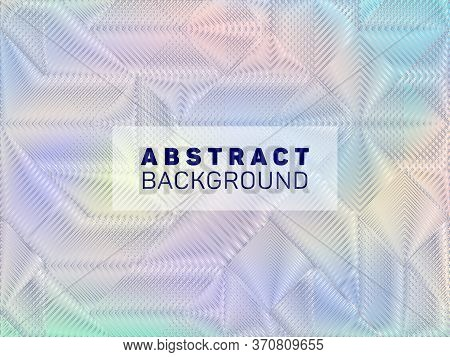 Magic Poster Glitch Holographic Vector Layout Design. Abstract Wallpaper With Holo Texture. Futurist