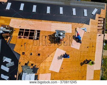 Demolition Removal Of An Old Asphalt Shingle Roof That Was Installed New Shingle Roof Repair